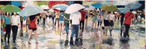 """Umbrellas"" original artwork by Norman Wyatt, Jr."